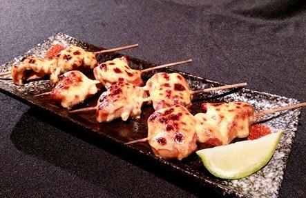 明太子雞肉串燒-2