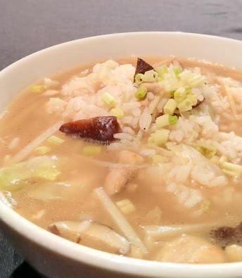 老菜脯鹹粥-2