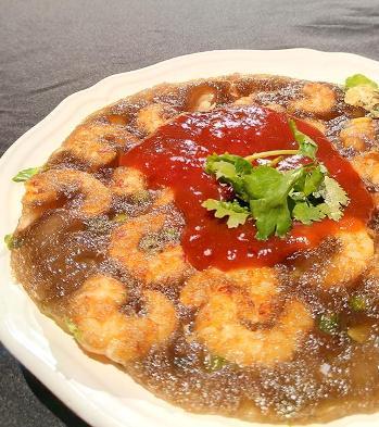 藕粉蝦仁煎-2