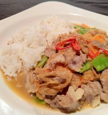 洋蔥豬肉燴飯-2