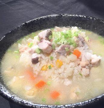 鮮蔬鱸魚粥-2