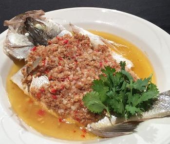 雞茸醬蒸魚-2