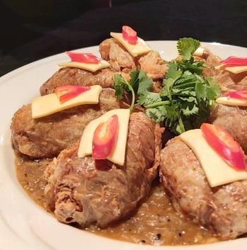 蘑菇醬香素雞腿-2