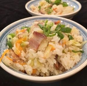 燻肉高麗菜飯-2
